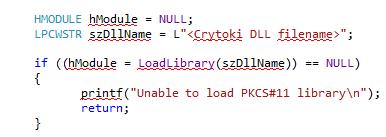 PKCS#11 Slots Information